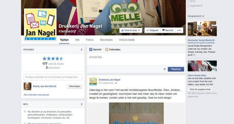 Facebook Drukkerij Jan Nagel